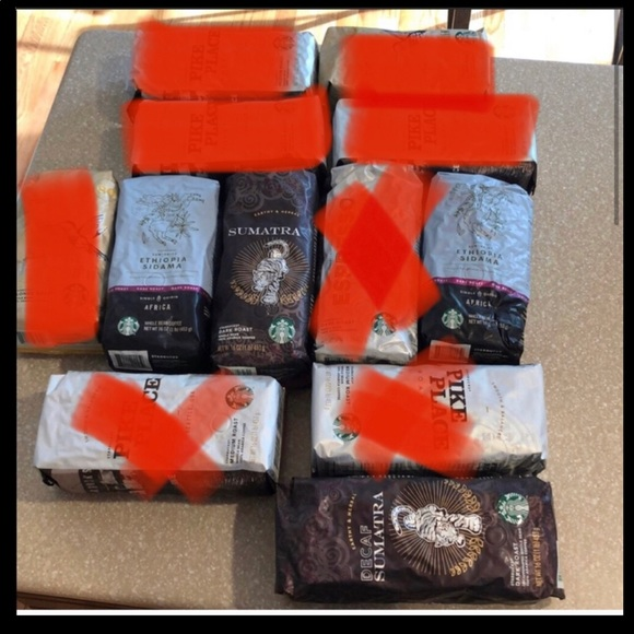4 bags Starbucks coffee -whole beans.